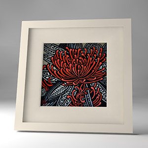 tree waratah framed print