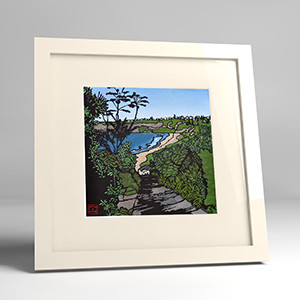 bungan beach framed print