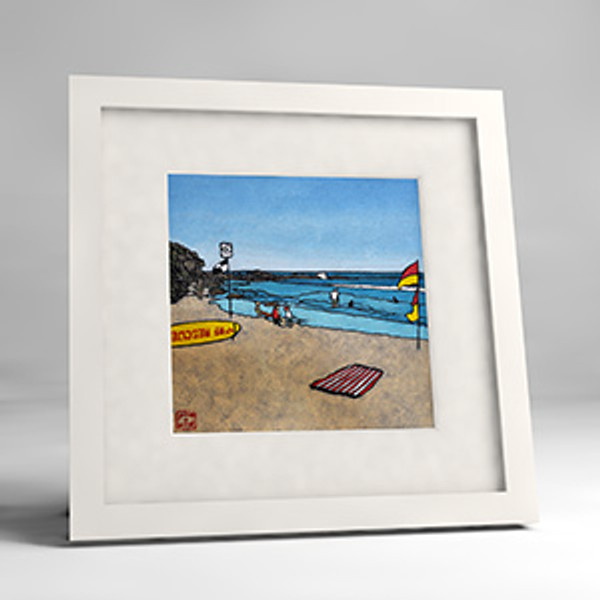 north curl curl framed print