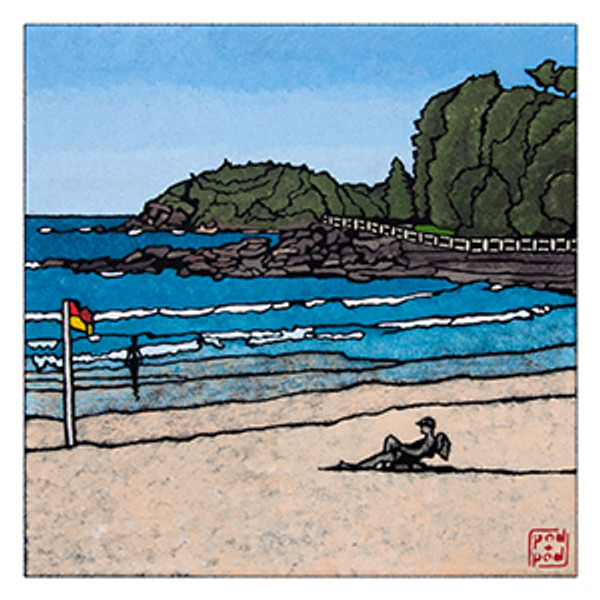 manly beach archival print