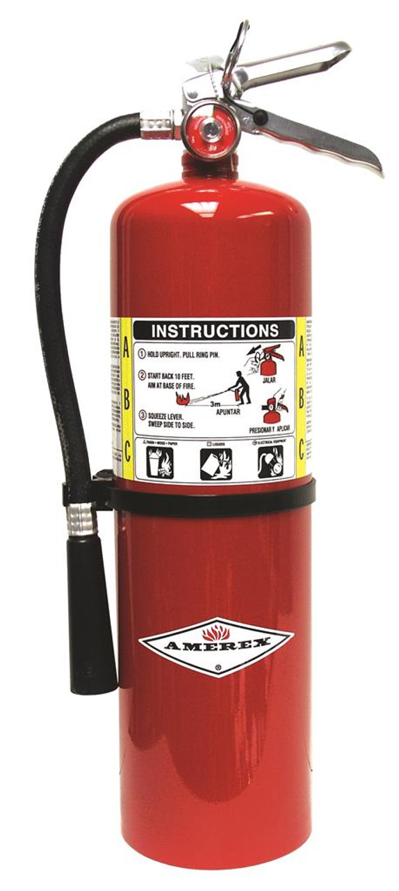 Amerex B456 - 10 lb ABC Fire Extinguisher 4A:80B:C