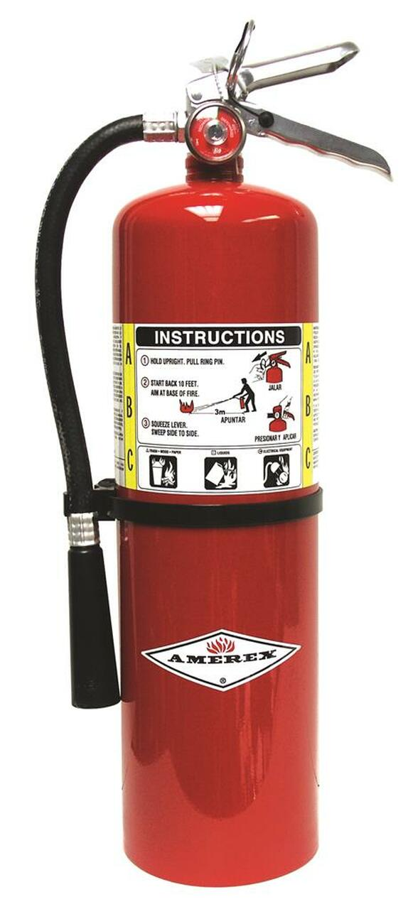 Amerex B456 - 10 lb ABC Fire Extinguisher 4A:80B:C