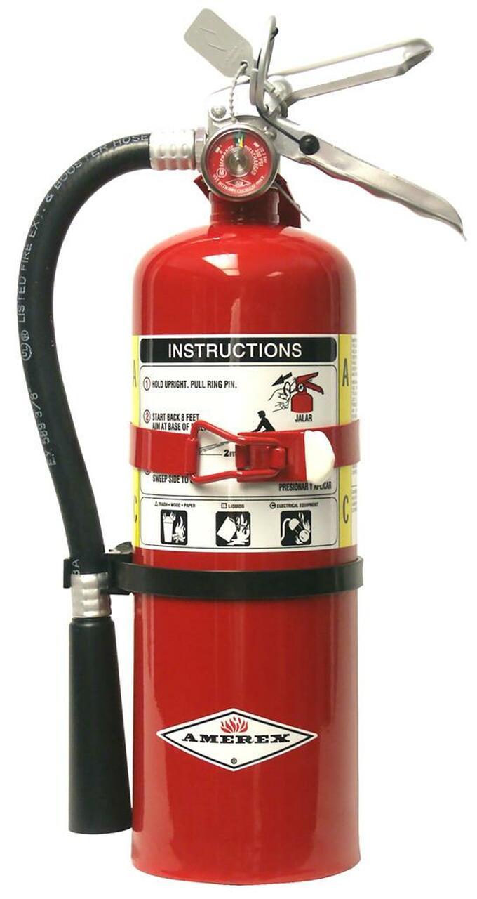 Amerex B500T - 5 lb ABC Fire Extinguisher (with vehicle bracket)