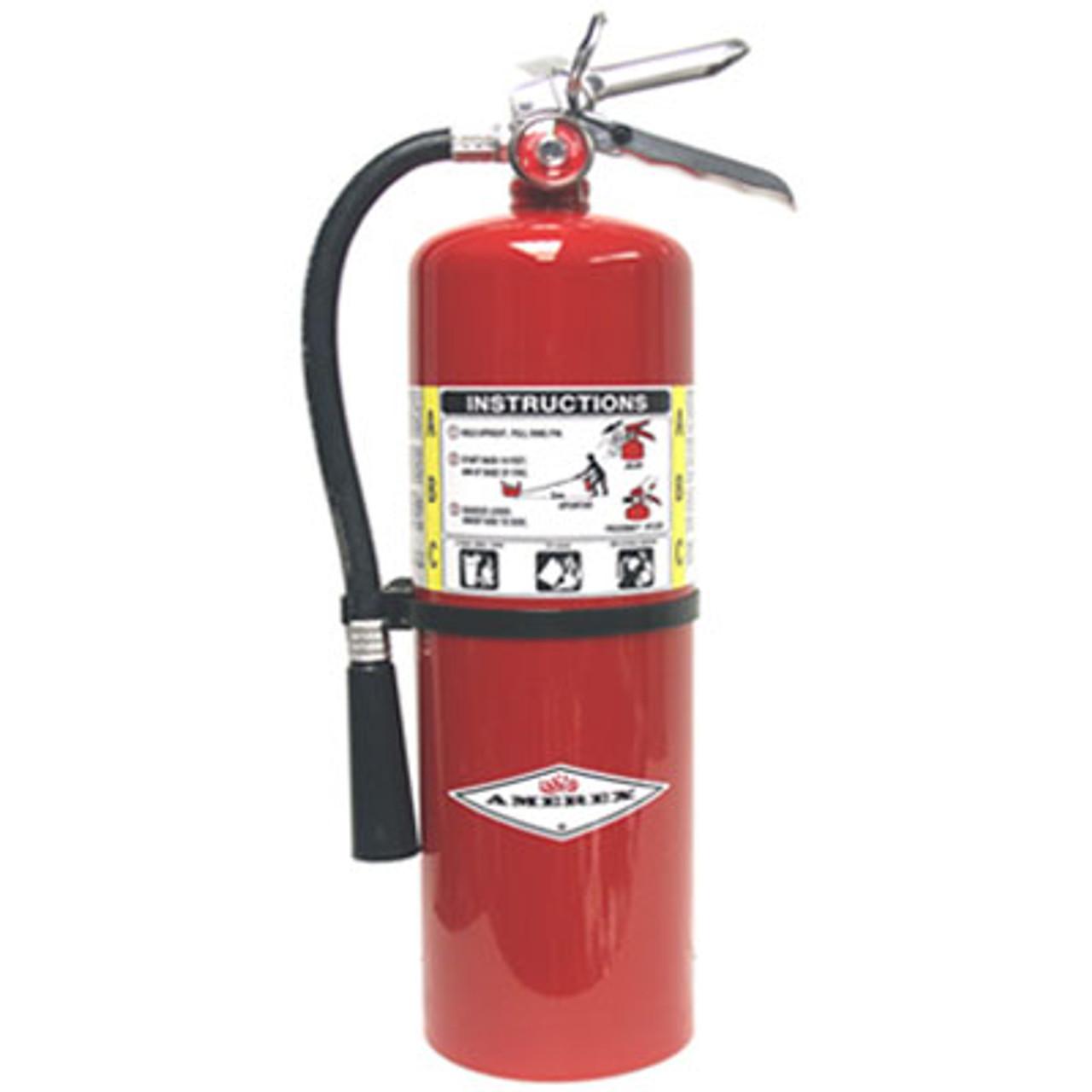 Amerex B423 - 20 lb ABC Extinguisher with Chrome Valve