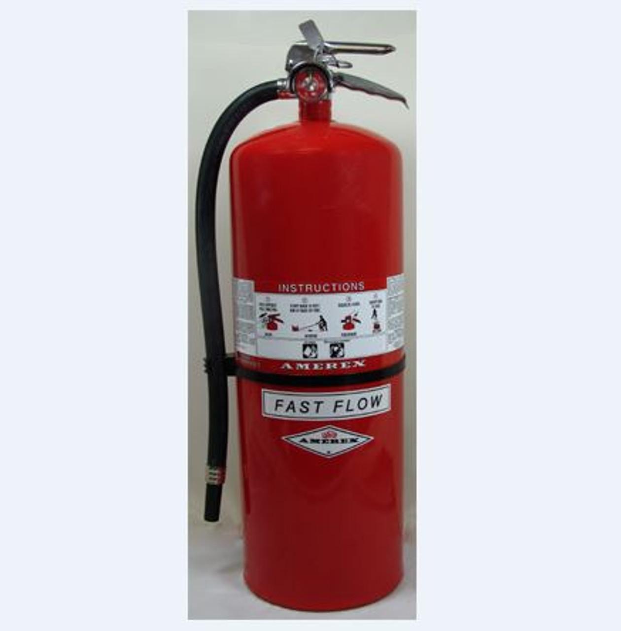 Amerex 568 - 30 lb Regular Fast Flow Fire Extinguisher