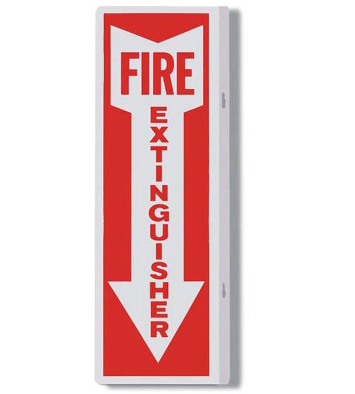 "AWM108 - Aluminum Fire Extinguisher Sign 4"" x 12"""