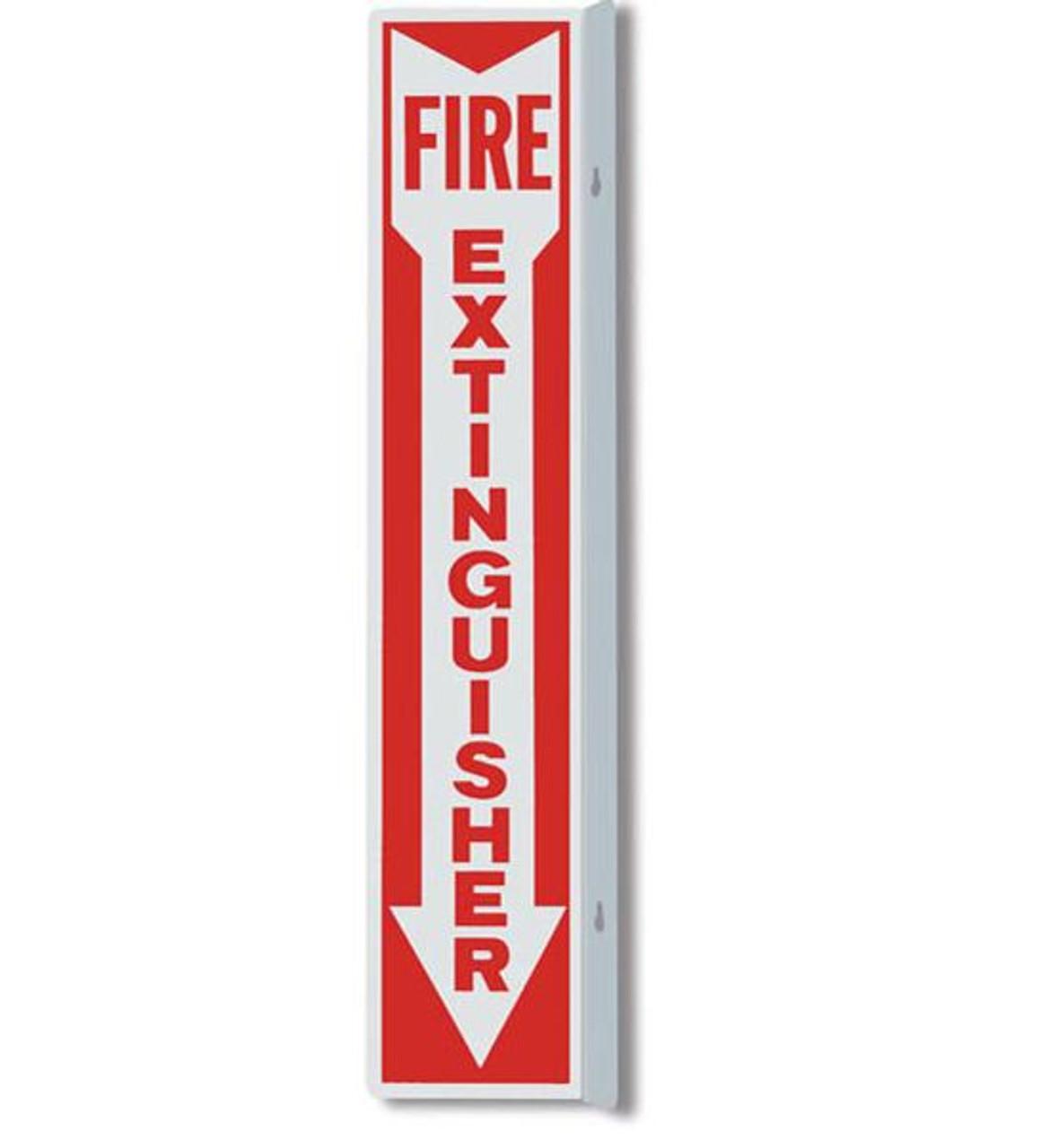 "AWM109 - Aluminum Fire Extinguisher Sign 4"" x 18"""