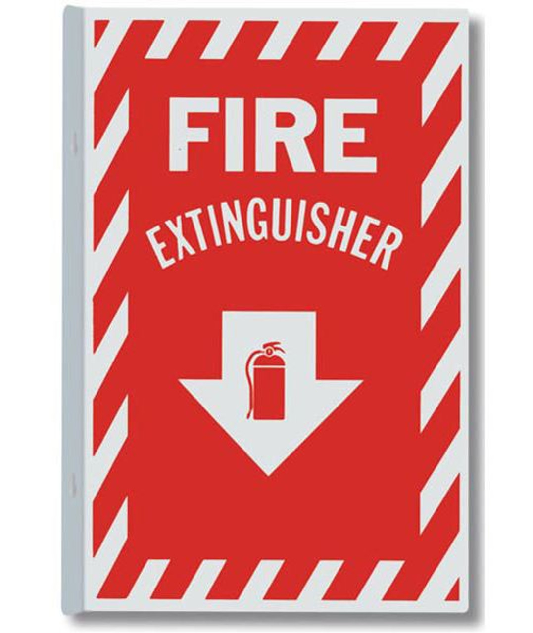 "AWM114 - Aluminum Fire Extinguisher Sign 8"" x 12"""