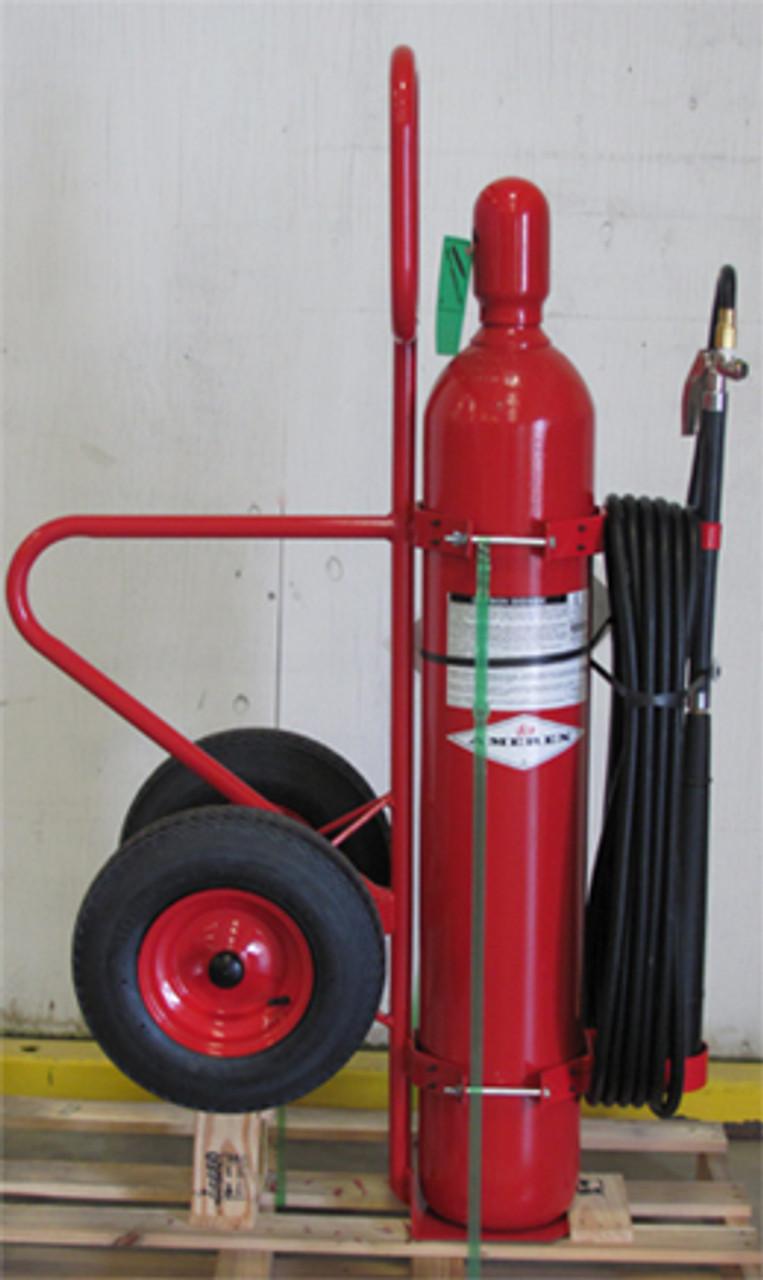 Amerex 333 - 50 lb Carbon Dioxide (CO2) Wheeled Fire Extinguisher