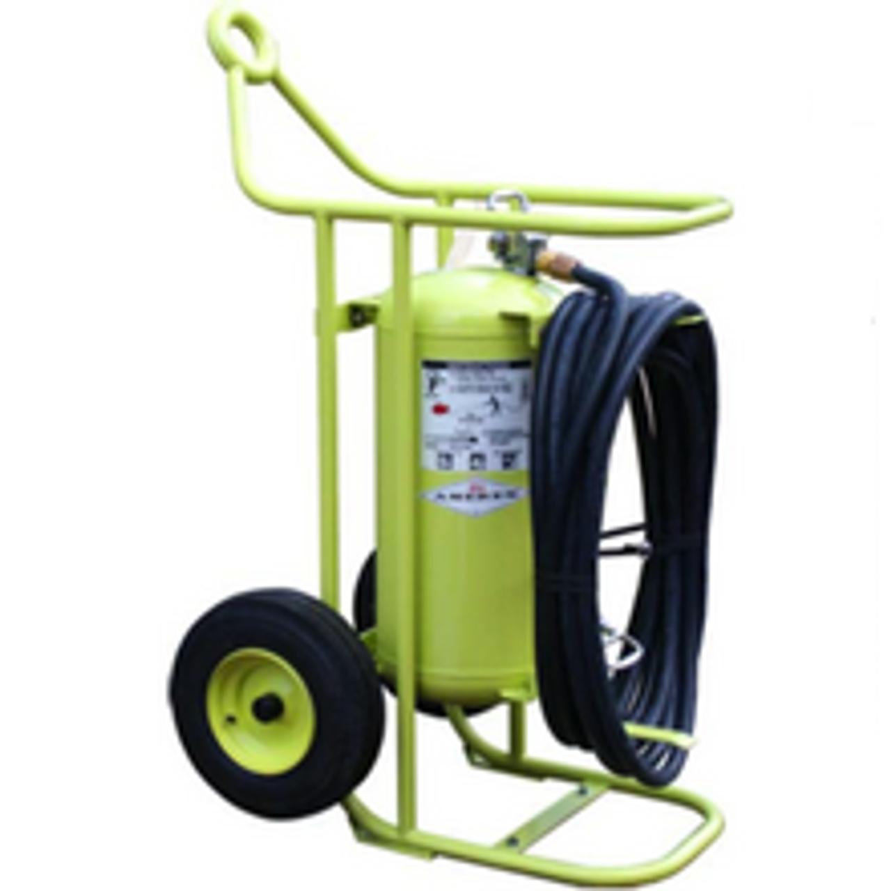 Amerex 600K - 150 lb Halon 1211 Wheeled Extinguisher