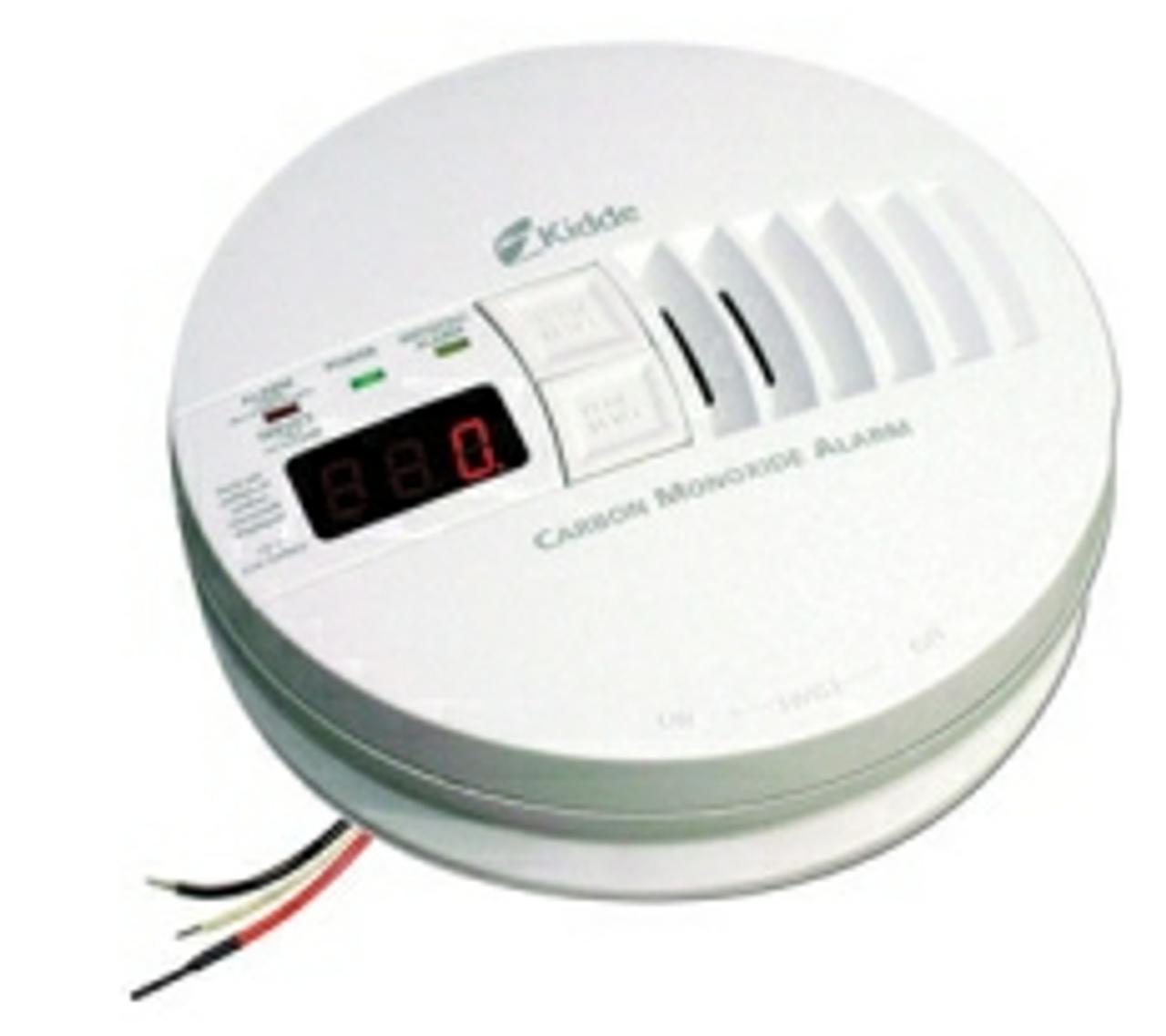 Kidde 21006407 -AC/DC Hard-Wired CO Alarm w/ Digital Display