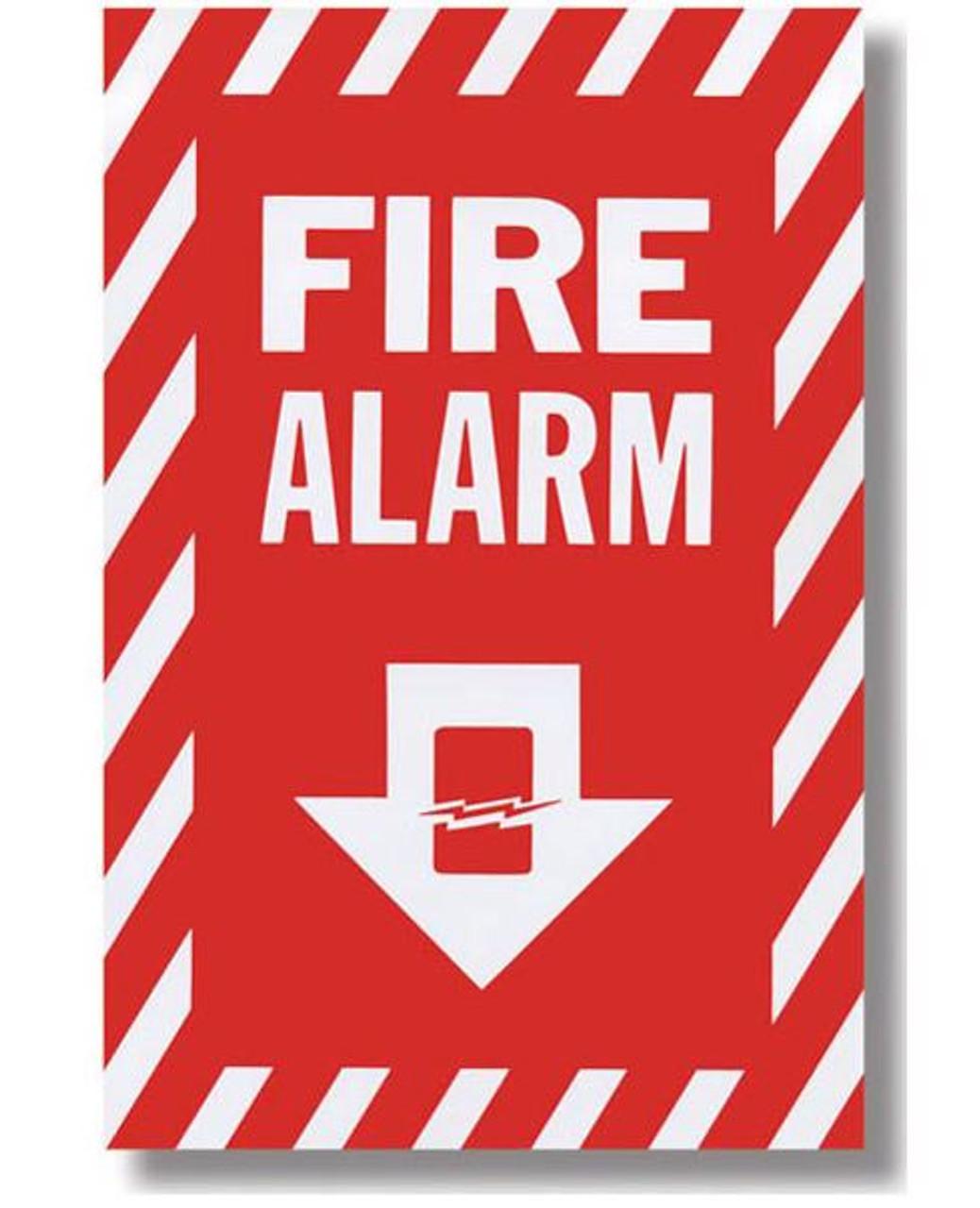 "BL119 - Fire Alarm Sign 8"" x 12"""