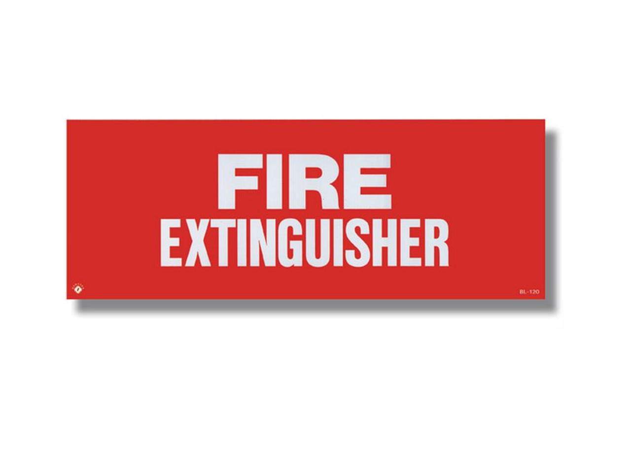 """BL120 Vinyl Self-adhesive Fire Extinguisher Sign 12"""" x 4.5"""""""