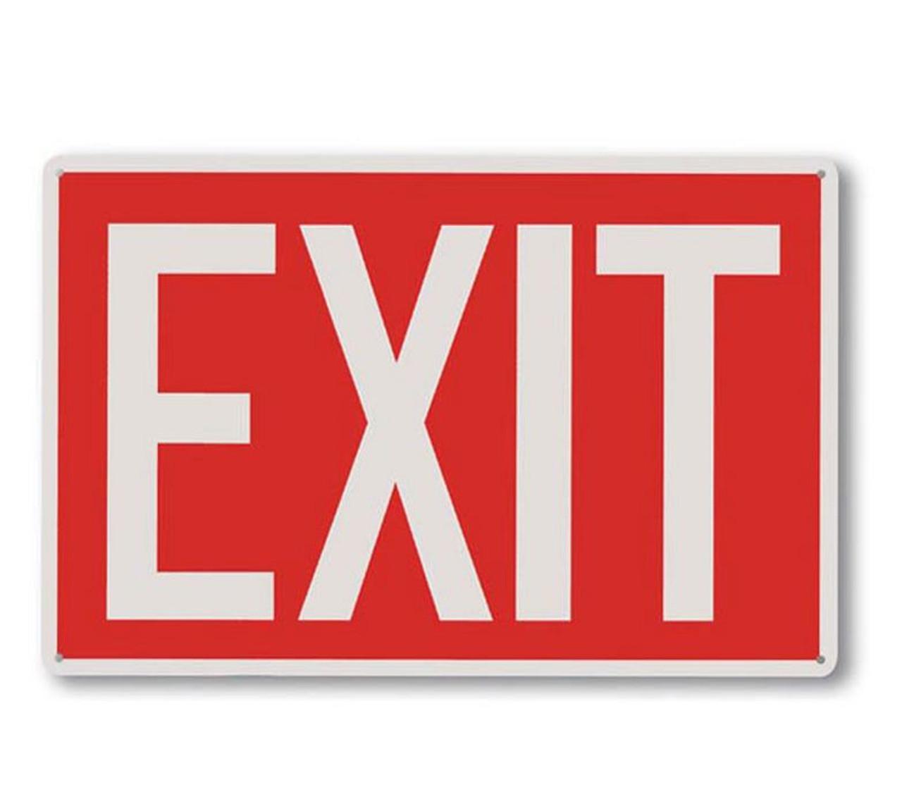 A112 Aluminum Exit Sign