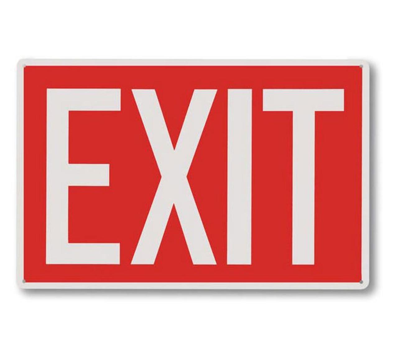 "RP 112 Rigid Plastic Directional Exit Signs 12"" x 8"""