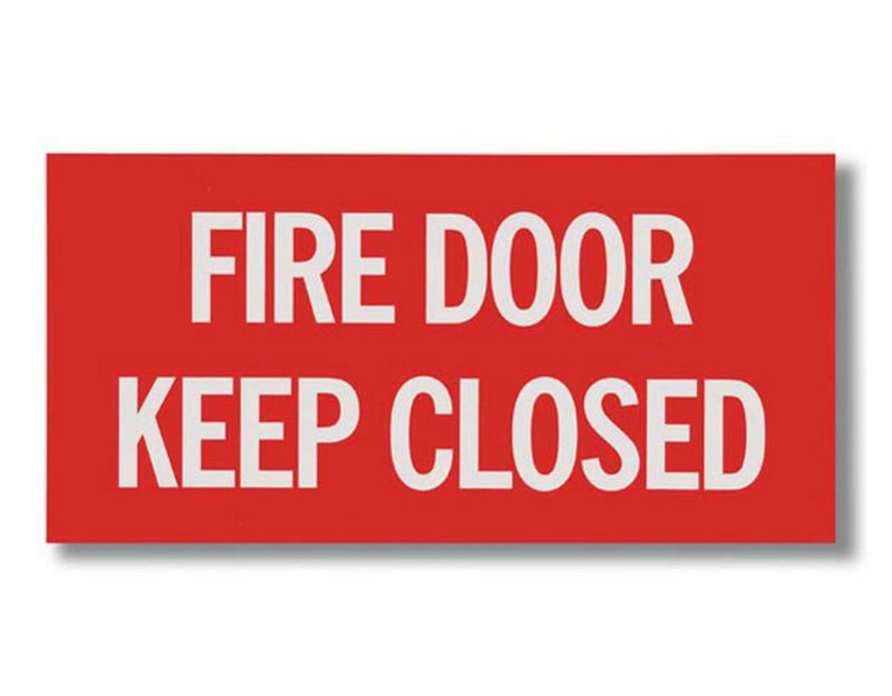 "BL167 Self-adhesive Vinyl Fire Door - Keep Closed 12"" x 6"""