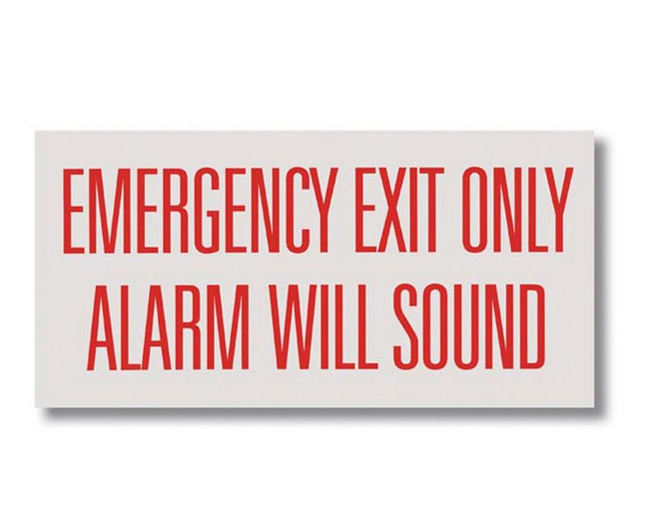 "BL169 Self-adhesive Vinyl Emergency Exit Only... 12"" x 6"""