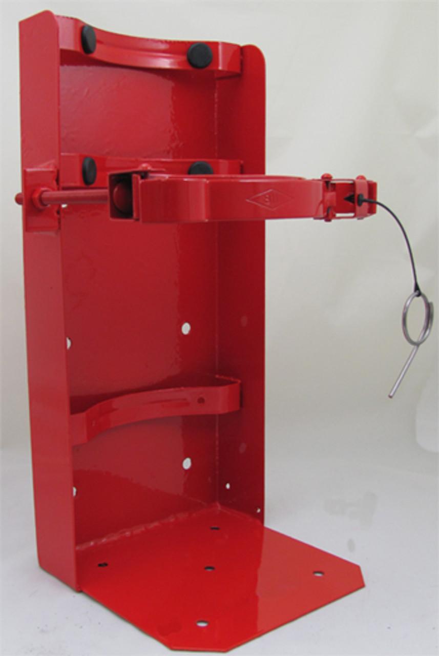 """Amerex 811G - 8"""" Cylinder Galvanized Red Bracket"""