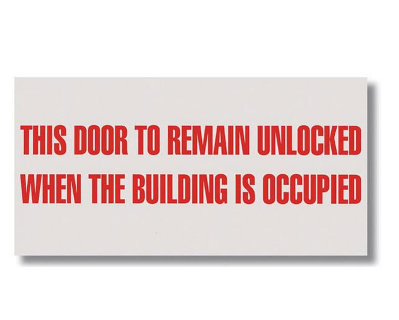 BL187 Self-adhesive Vinyl Door to Remain Unlocked Occupied