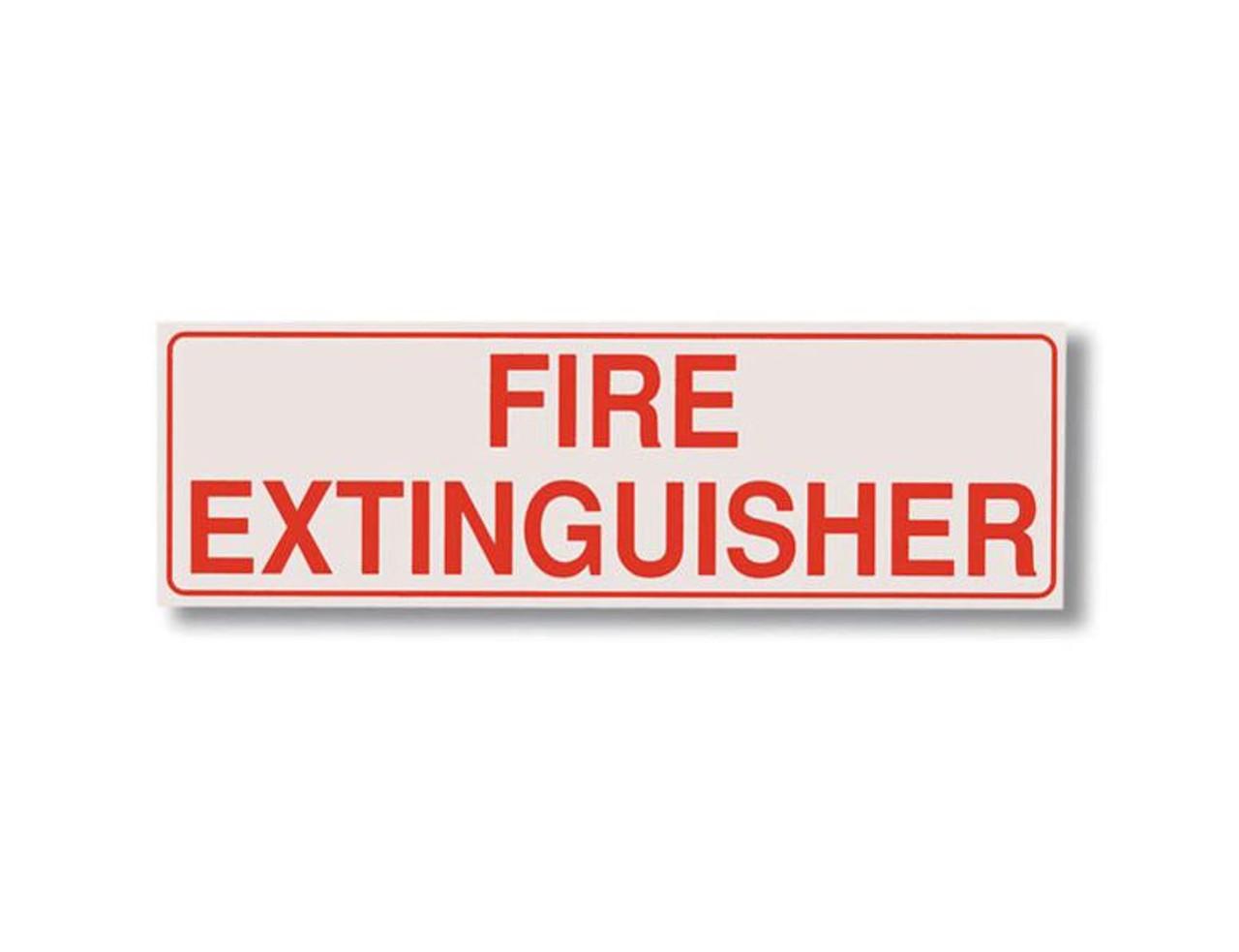 BL254  - Fire Extinguisher Cabinet Decals BL254