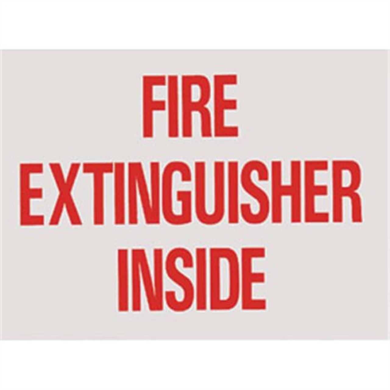 "BL172 - Fire Extinguisher Inside Vinyl 4"" x 3"""