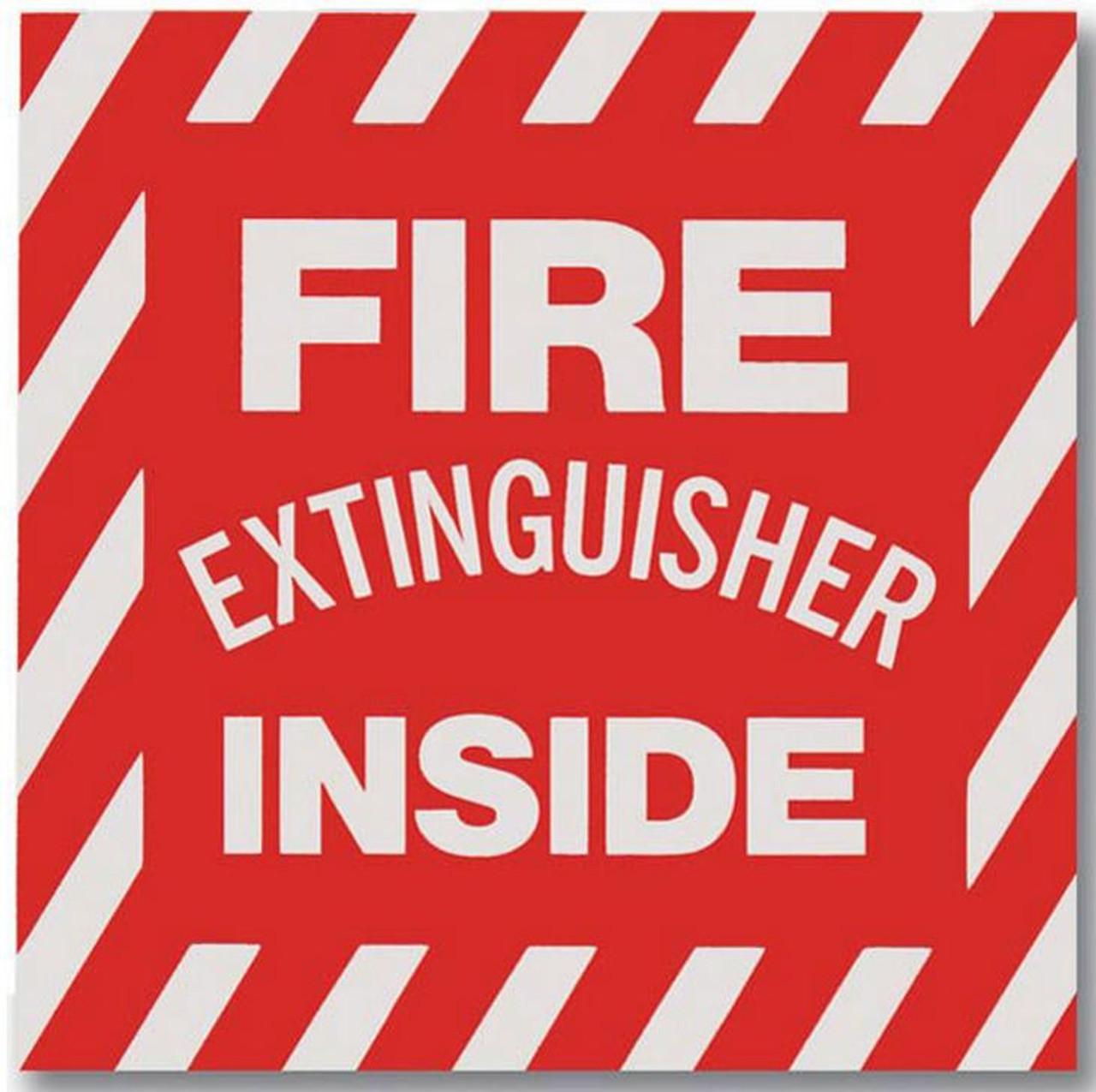 "BL105 - Fire Extinguisher Inside Vinyl 4"" x 4"""