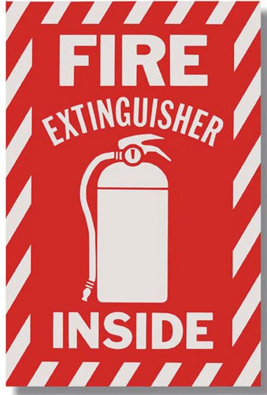 "BL116 - Fire Extinguisher Inside Vinyl 6"" x 9"""
