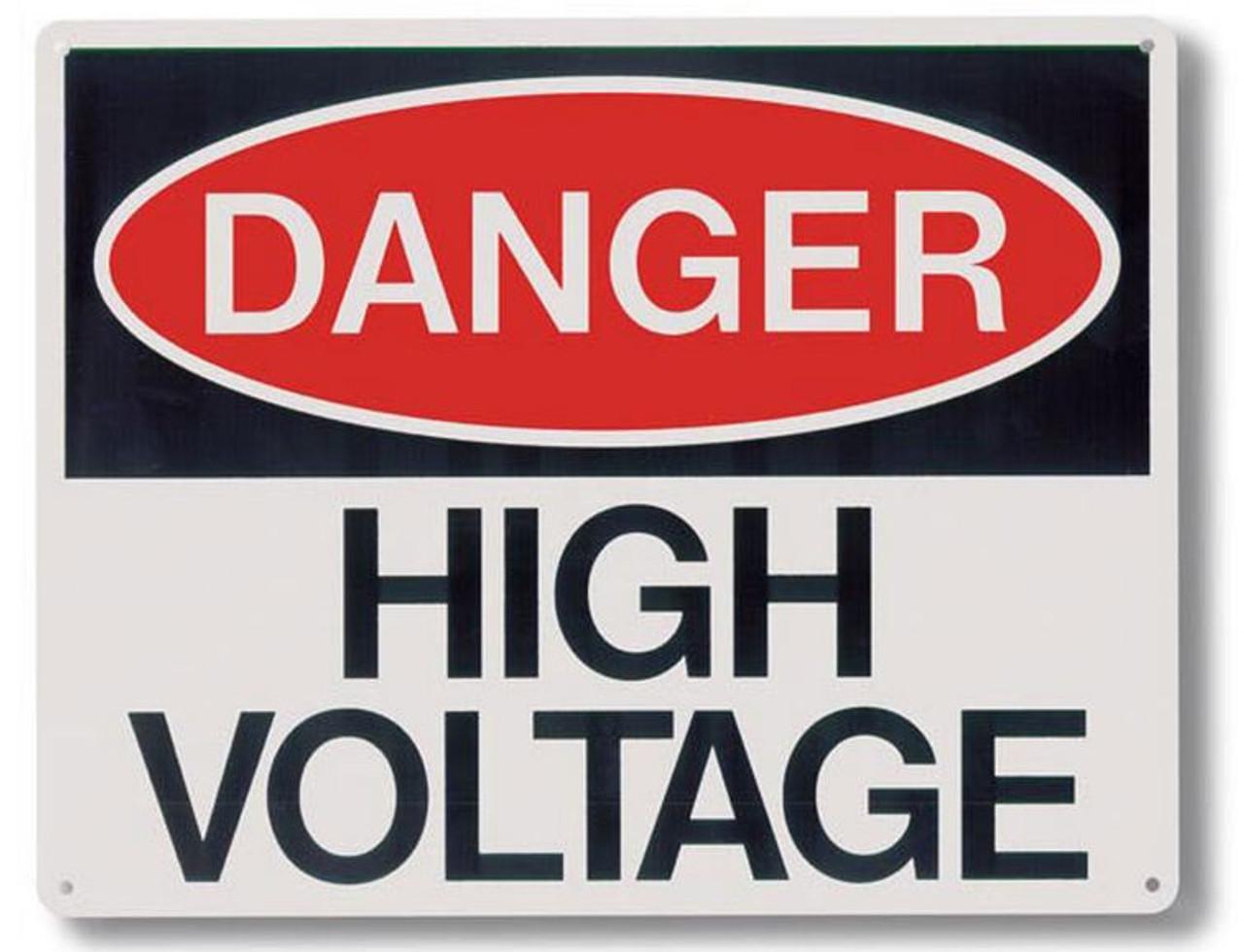 """RP139 - Danger High Voltage Sign 10"""" x 8"""""""