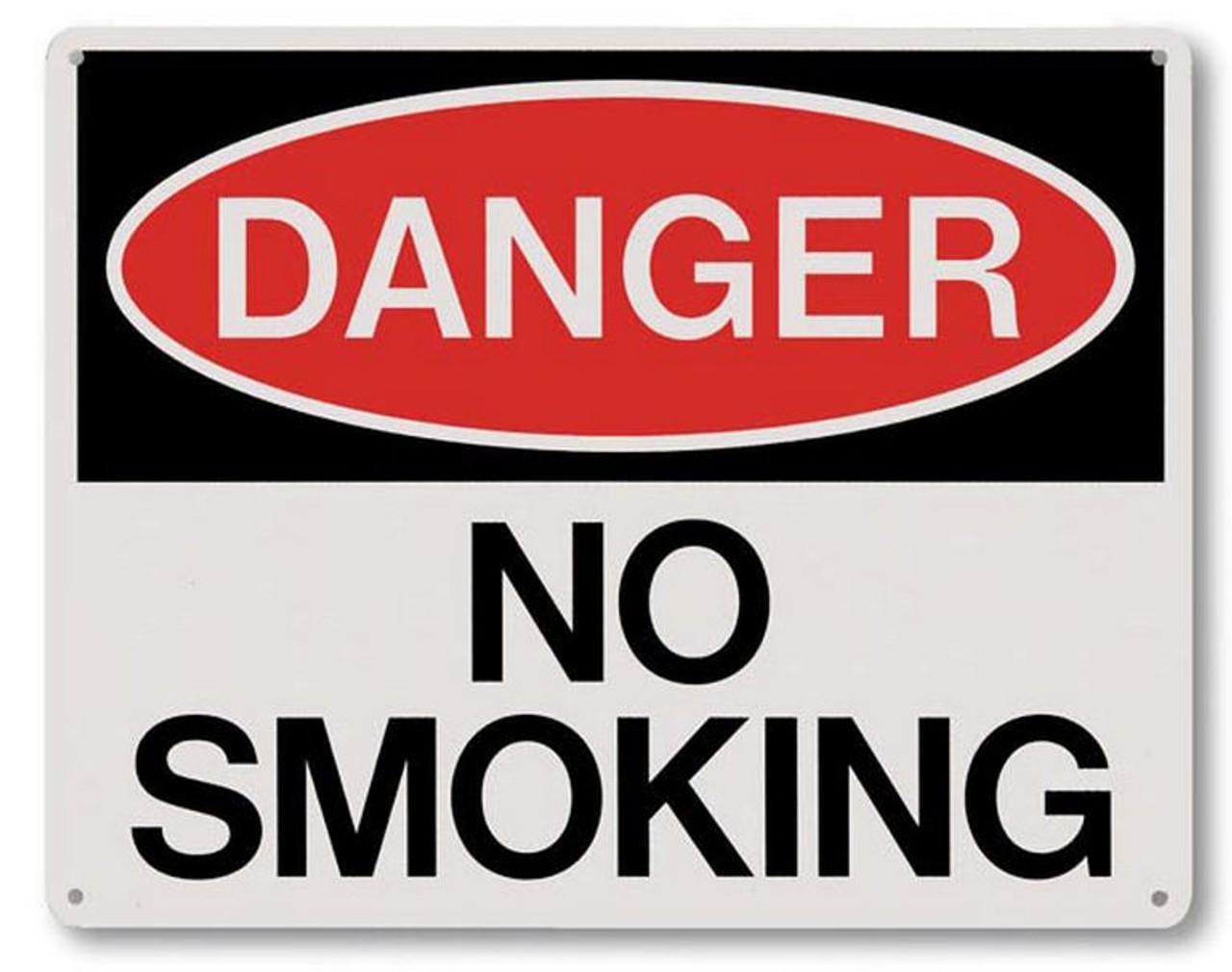 """RP140 - Danger No Smoking Sign 10"""" x 8"""""""