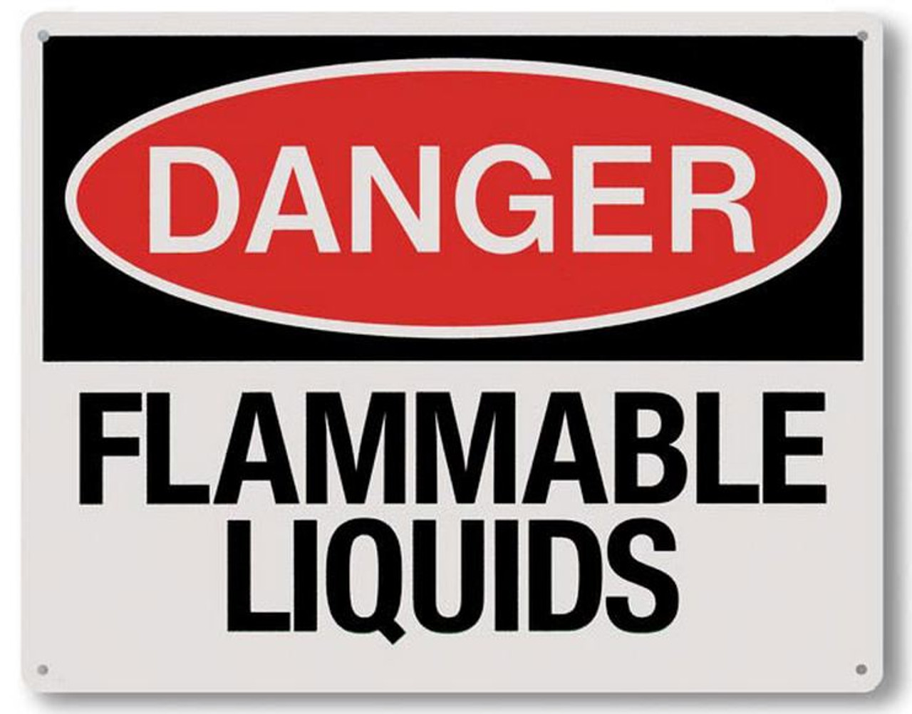 """RP146 - Danger Flammable Liquids Sign 10"""" x 8"""""""