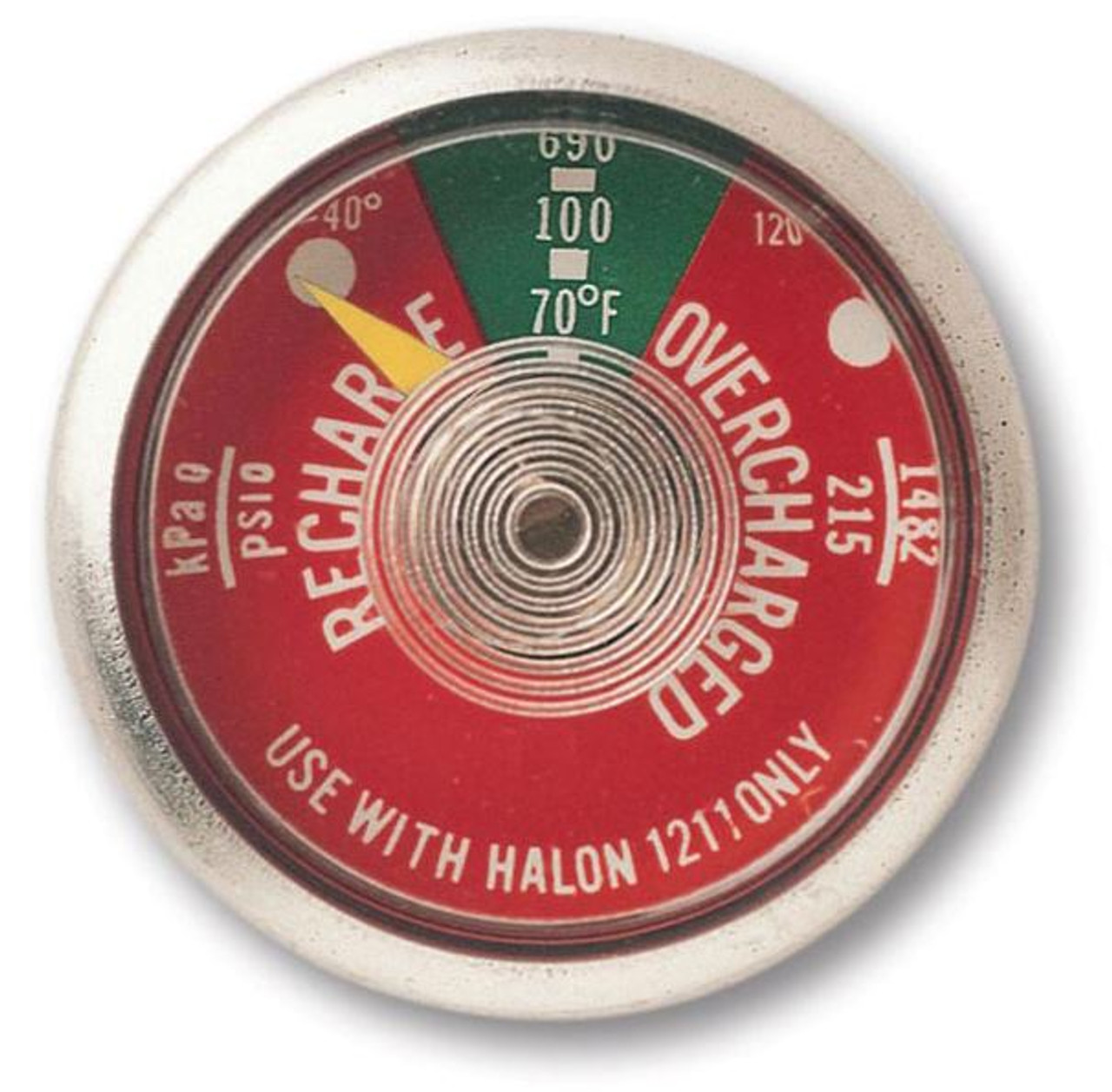 G100T - 100 lb Halotron I Fire Extinguisher Gauge