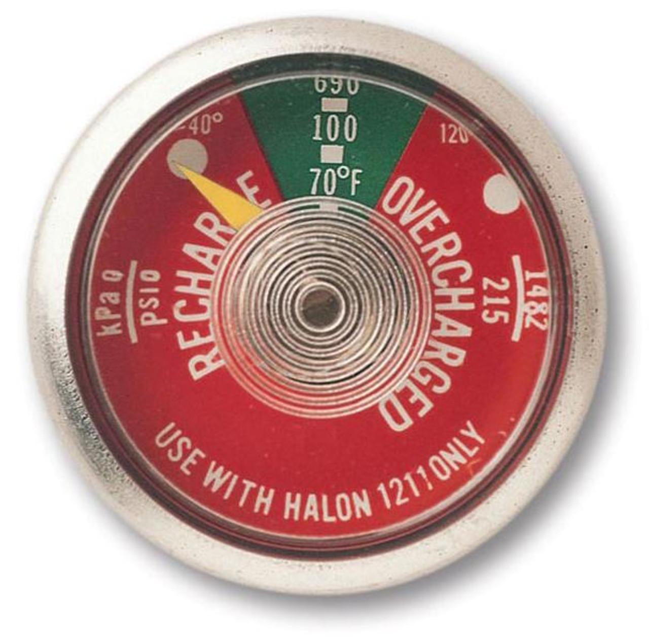 G125H - 125 lb Halon 1211 Fire Extinguisher Gauge