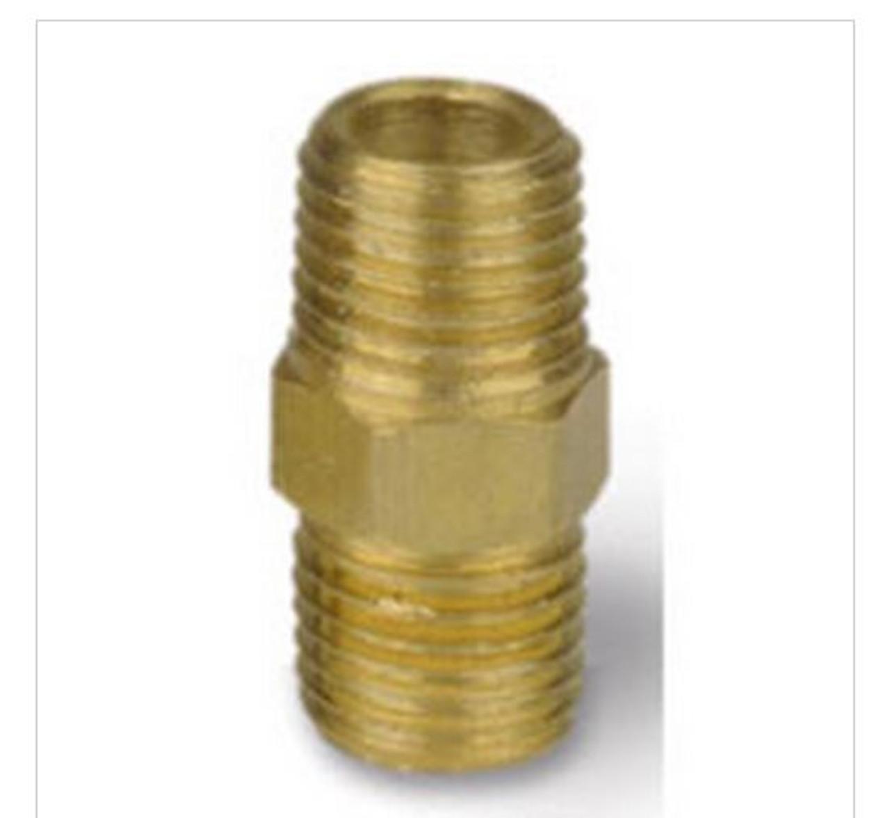 "4HN - ¼"" M x M Hex Nipple for 3-way valve"