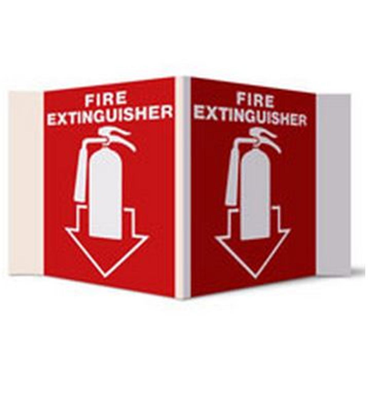 PTD-182 - 3-D Rigid Plastic Fire Extinguisher Sign