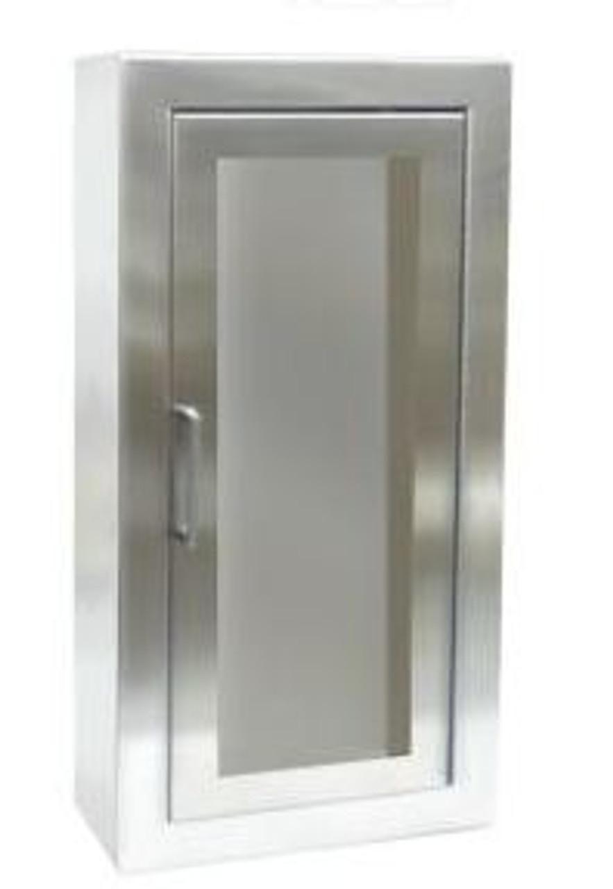 JL Industries 2037F10 - Stainless Steel Semi Recessed Cosmopolitan Cabinet