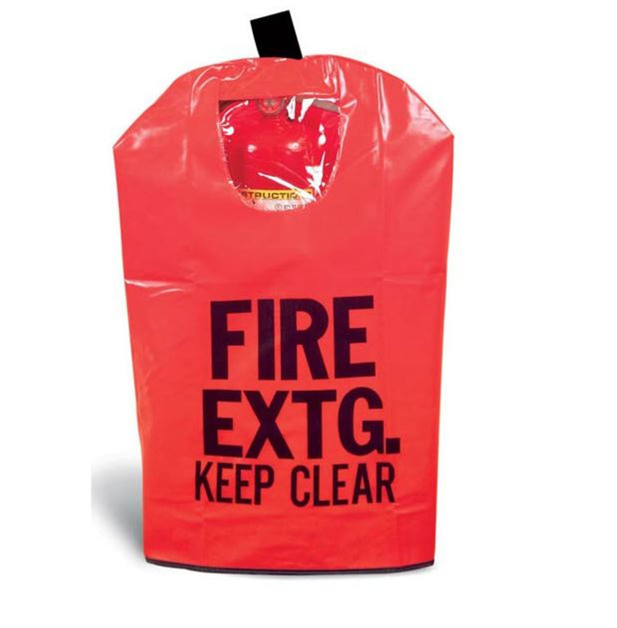 FEC3W - Large Fire Extinguisher Cover w/ Hook-and-Loop & Window