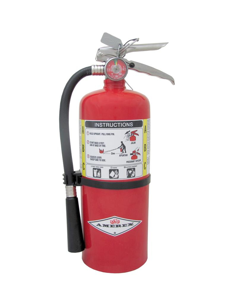 Amerex B461 - 6 lb ABC Dry Chemical Extinguisher (3A:40B:C)