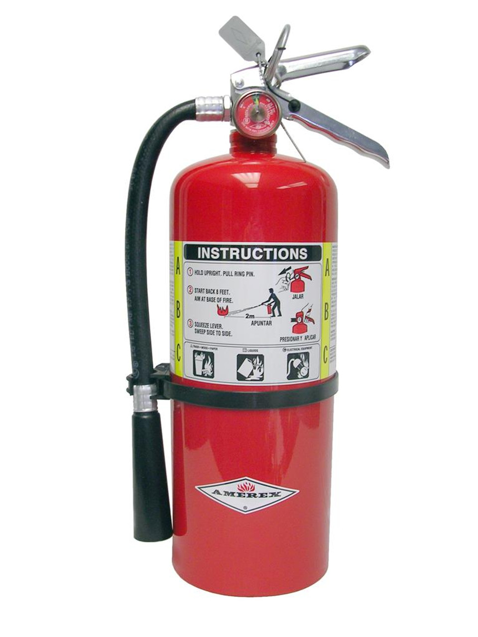 Amerex B443 - 6 lb ABC Dry Chemical Fire Extinguisher (3A:40B:C)