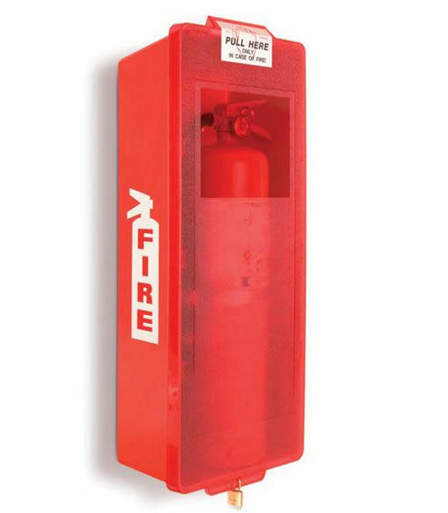 (3) 5 LB Extinguishers and (3) Cabinets (Over $330 Value)