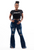 Wide leg distressed jeans