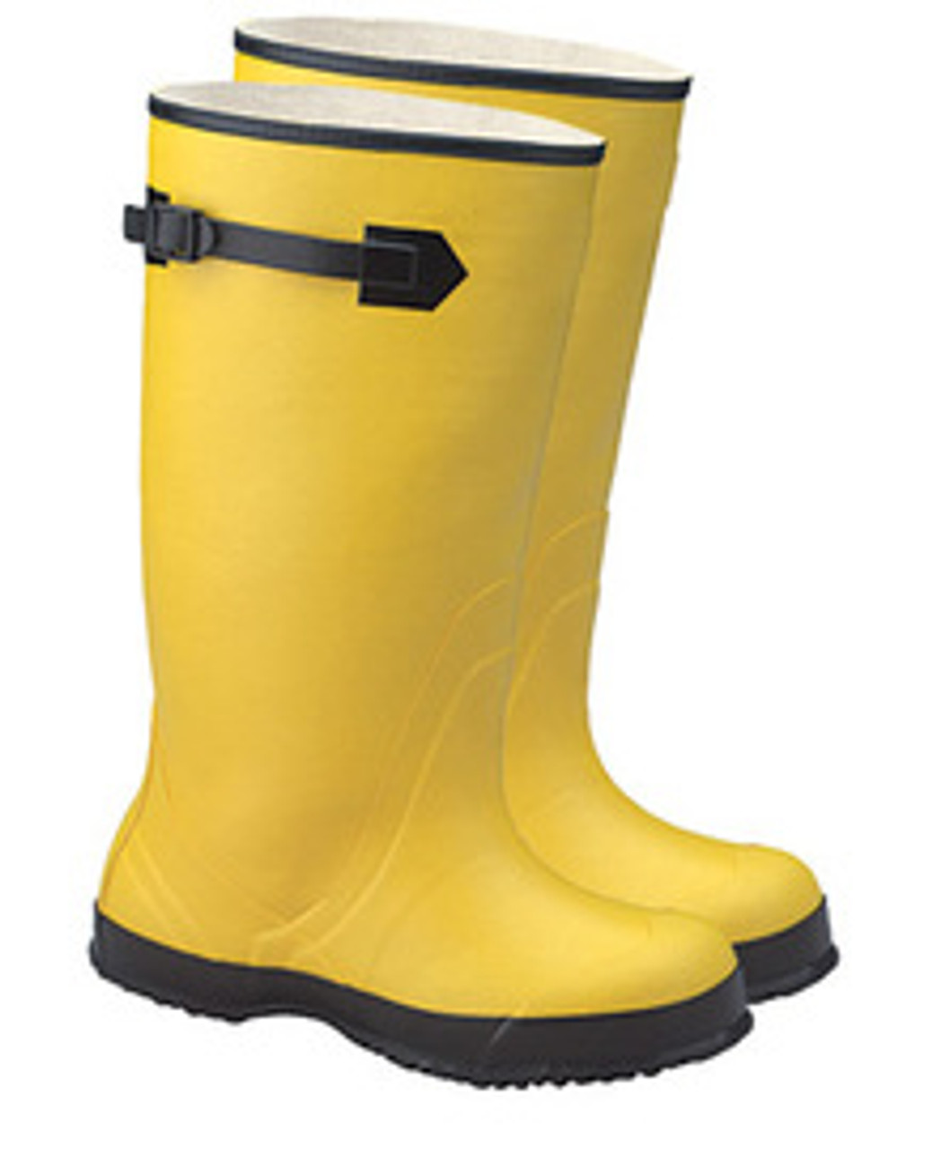 """Premium 17"""" Plain Toe Rubber Over-the-Shoe Ribbed Outsole Boots (Yellow)"""