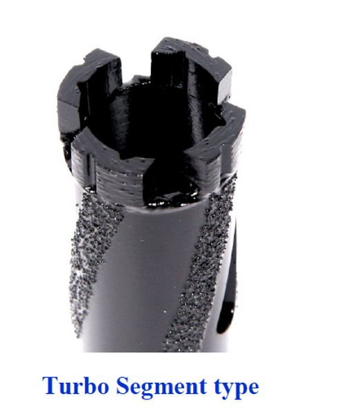 Black Dry Core Core Bit with Vacuum Brazed Side Protection