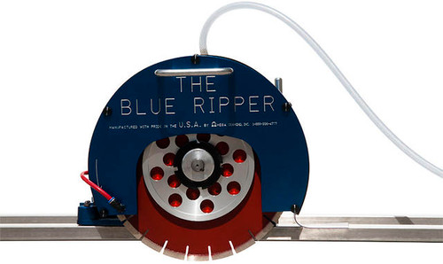 Blue Ripper 5hp Rail Saw w/ Rails