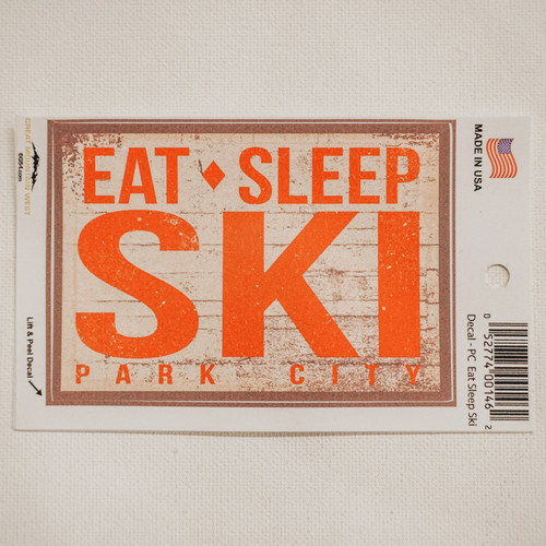 Decal PC Eat Sleep Ski