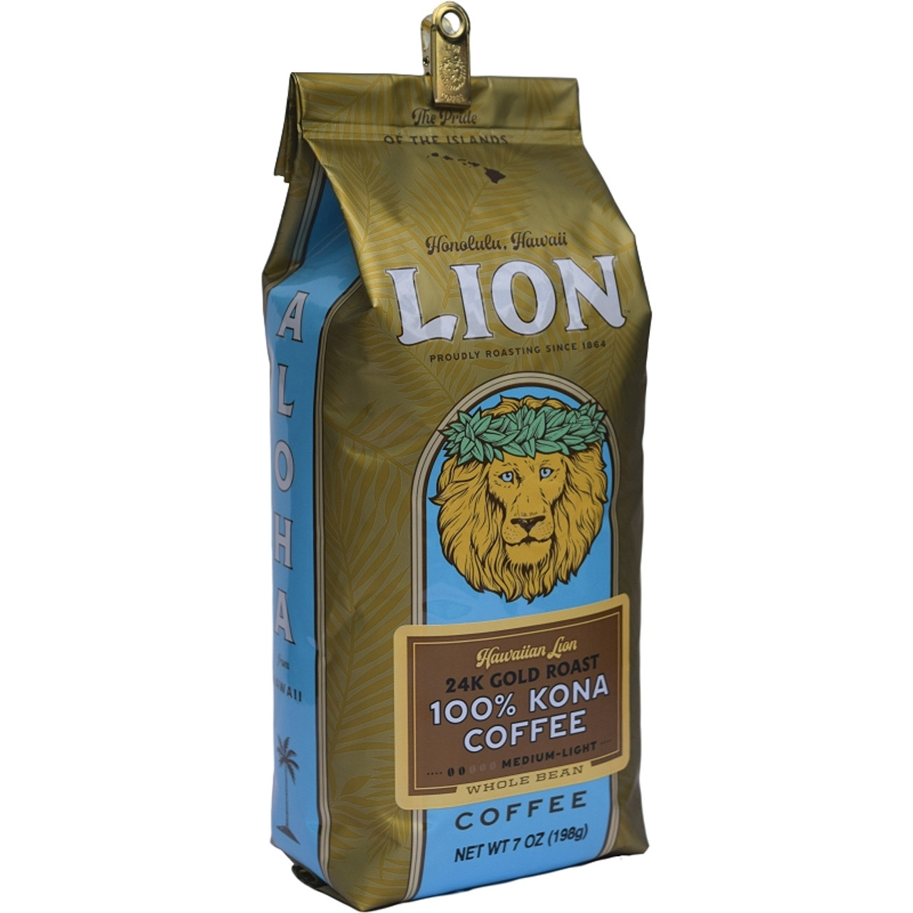 hawaiian lion 24k gold roast kona coffee