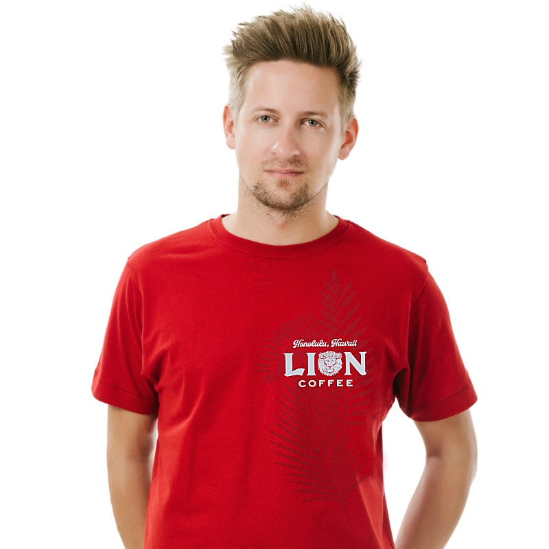 304d201fbb Lion Red Short Sleeve T-Shirt - Hawaii Coffee Company