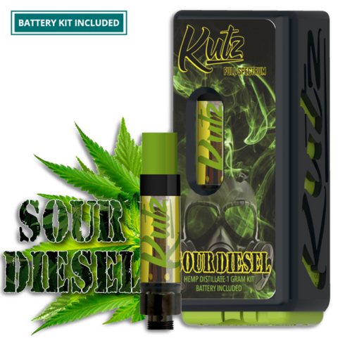 CBD Distillate - Sour Diesel Prefilled 1g Cartridge