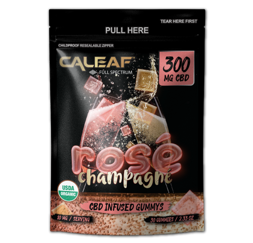 Rose Champagne CBD Infused Gummys - 300MG