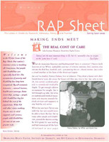NH RAP Sheet Spring 2009: Making Ends Meet