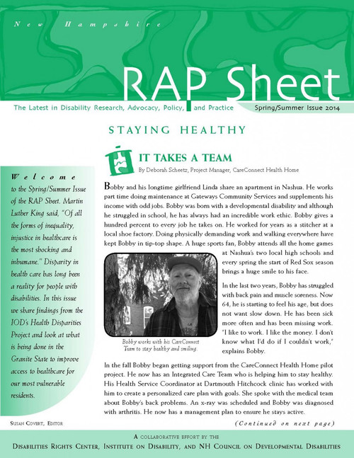 NH RAP Sheet Spring/Summer 2014: Staying Healthy